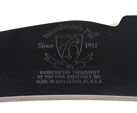 Woodman's Pal Premium Plus Machete with Natural Leather Sheath, Made in USA