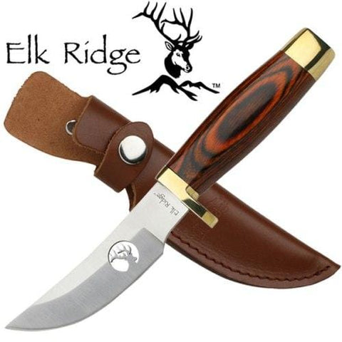Master Cutlery Fixed Blade Wood Hunting Knife