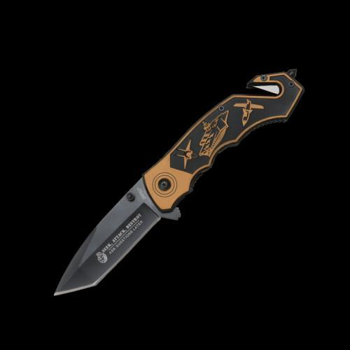 United Cutlery United Silent Attack Assisted Opening Folder Brown