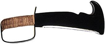 Woodman's Pal USA Premium Machete w/Leather Handle and Nylon Sheath & Stone, 784NS