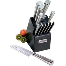 13-Pc Stainless Stl Cutlery Set w/ Block - Knife Depot