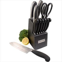 13-Pc Soft Touch Cutlery Set w/ Block - Knife Depot