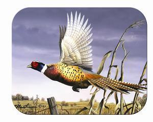 Tuftop Tempered Glass Kitchen Board, Wildlife Collection - Flying Pheasant