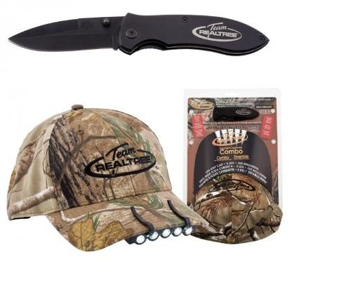 Utica Cutlery Team Realtree 3pc Cap-Light & Knife Set