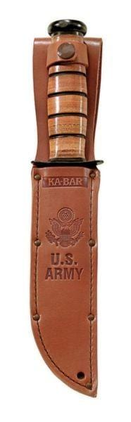 Ka-Bar Knives Replacement Brown Leather US Army Sheath