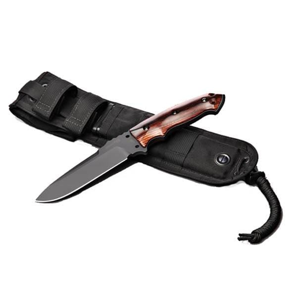 Hogue EXF-01 5.5 Tactical Drop Point Knife, Kote Wood, Coc Bolo