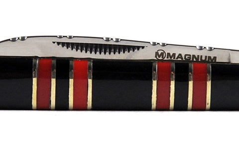 Magnum by Boker Doctor's Pocket Knife with Buffalo Horn & Red Coral Handle