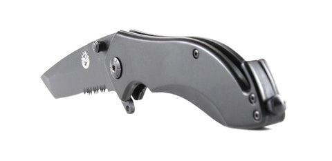 JB Outman Assisted Opening Knife with Glass Breaker & Strap Cutter