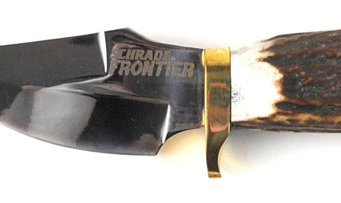 Schrade Frontier Stag Handle Fixed Blade Knife