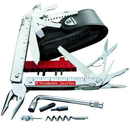 Victorinox SwissTool CS Plus Multi-Tool with Leather Pouch