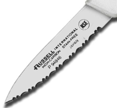 "Dexter Basics 3-1/8"" Scalloped Edge Tapered Point Paring Knife"