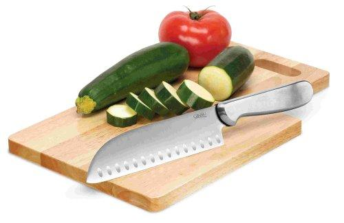 Ginsu 04885 7-Inch Stainless Steel Santoku Knife with Cutting Board