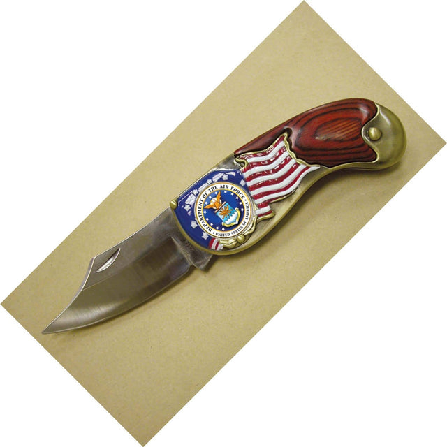 Armed Forces Colorized Quarter Pocket Knife - Air Force