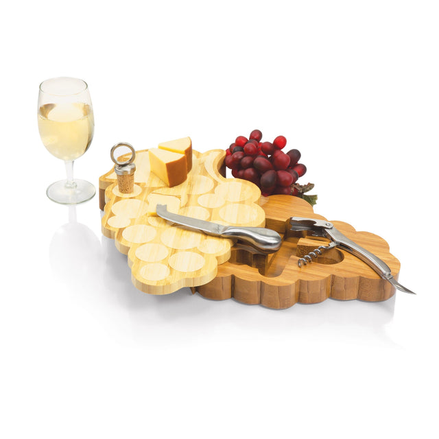 Picnic Time Grapes Cutting Board w/ Tools