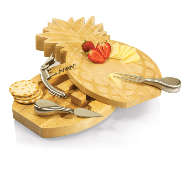 Picnic Time Pineapple Cutting Board w/ Tools