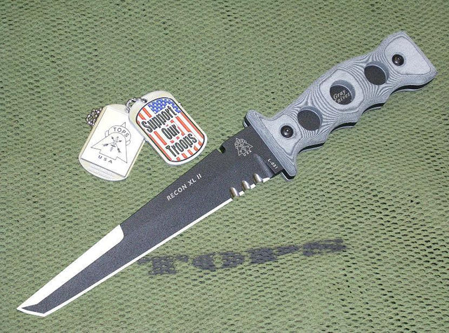 Tops Knives Recon XL II Tactical Defense Knife - Hand Made in USA