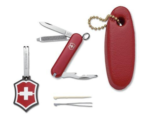 Victorinox Swiss Army Classic Pocket Knife/Microlight/Floatie Set (Red)