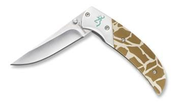 Browning Safari Prism Giraffe Liner Lock Folder
