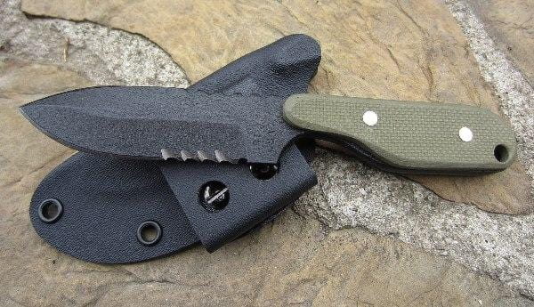 ShadowTech Knives Talon B Serrated Green Textured G10