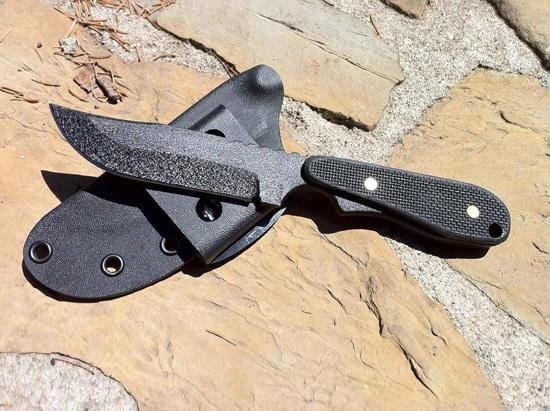 ShadowTech Knives Wolf Black Plain Edge Bowie Black G10