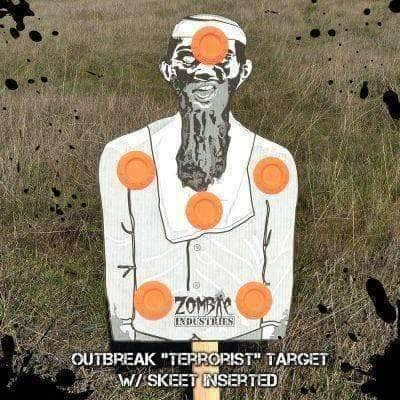 (45) pack Zombie Outbreak Targets - Knife Depot