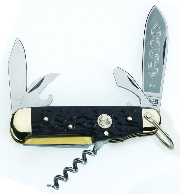 Boker Camp Knife with Black Delrin Handle
