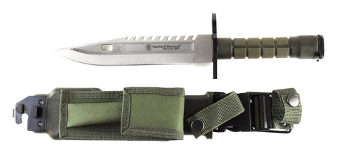 Smith & Wesson Special Forces M9 Bayonet Knife with Green Handle and Green