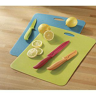 Farberware 8 Piece Cutting Mats w/Resin Knives & Sheaths