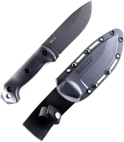 KA-BAR BK2 Becker Campanion Survival Knife, Hard Plastic Sheath
