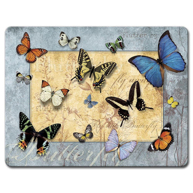 Highland Graphics Flutter By Large Glass Cutting Board