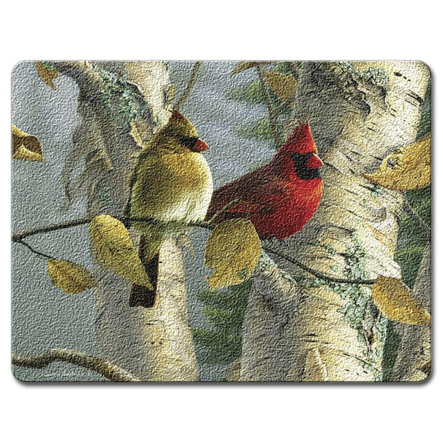 Highland Graphics Feathered Friends Large Glass Cutting Board