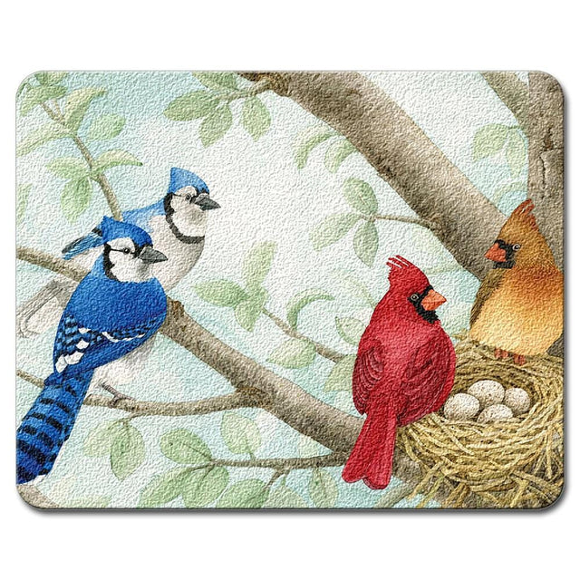 Highland Graphics Songbirds Small Glass Cutting Board