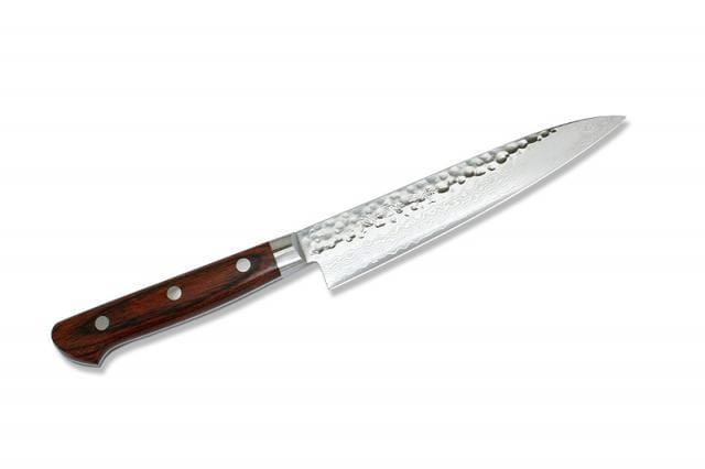2012 PETTY 5.5'' mahogany wood Damascus style blades with a core of VG-10 s - Knife Depot