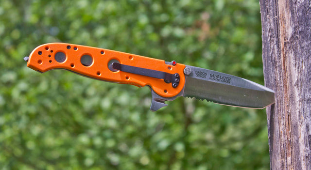 "CRKT Emergency M16 3.8"" Pocket Knife (Combo Edge, Orange Zytel Handle)"