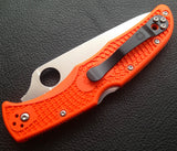Spyderco Endura 4 Pocket Knife (Orange FRN Handle, Plain Edge)