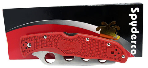 Spyderco Endura 4 Training Knife (Red FRN Handle, Plain Edge)