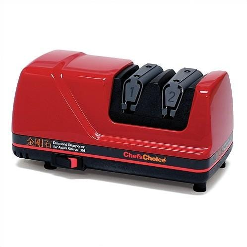 Chef'sChoice Diamond Sharpener for Asian Knives, Red