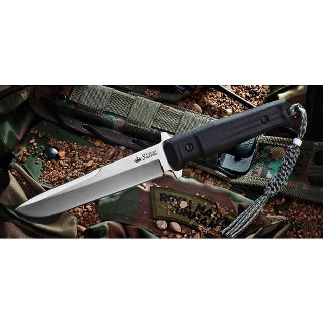 Kizlyar Supreme Trident-Aus8-Satin Fixed Blade Knife