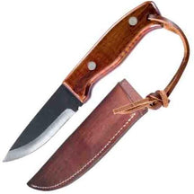 Pro Tool Industries Deer Hunter's Knife, Ash Wood Handle w/ Leather Sheath