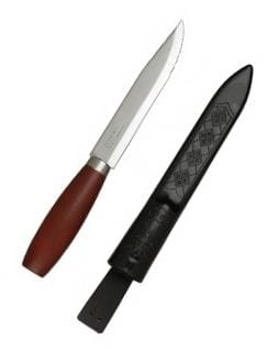 "Morakniv Mora Classic 3 Utility Fixed 6"" Carbon Steel Blade, Red Wood Handle"