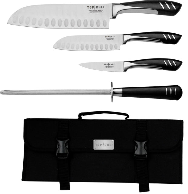 Top Chef 5-Piece Knife Set including Nylon Carrying Case