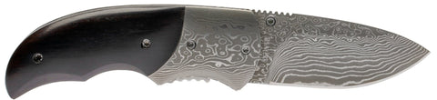 Magnum by Boker Damascus Stubby Single Blade Pocket Knife