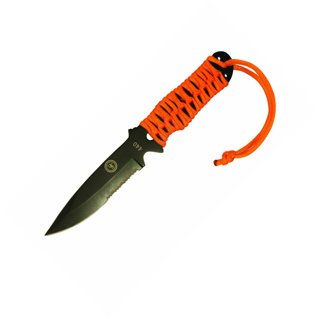 Ultimate Survival UST Sabercut Para Knife Orange Paracord