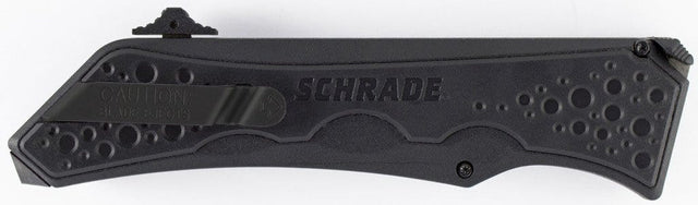 Schrade SCHOTF7BS Out The Front Assisted Opening Folding Knife w/ Partially Serrated Drop Point Blade & Aluminum Handle