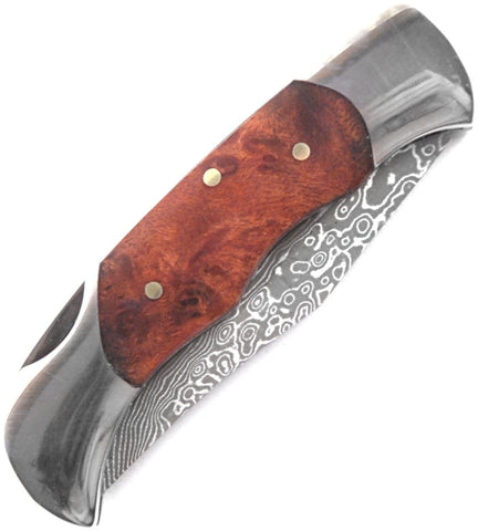 Magnum by Boker Damascus Lady Knife with Burl Wood Handle