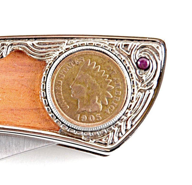 UPM Global 100-Year Old Indian Head Penny Pocket Knife