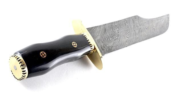 Custom Handmade Full Tang Damascus Steel Alamo Bowie Knife