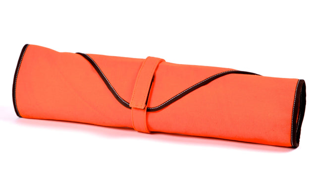Boldric 6-Pocket Canvas Knife Bag, Orange