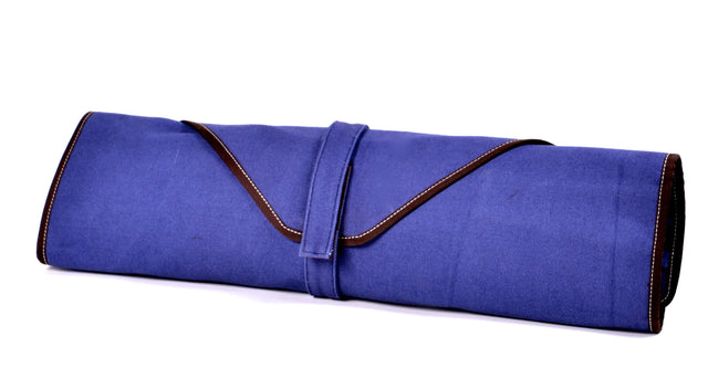 Boldric 6-Pocket Canvas Knife Bag, Blue