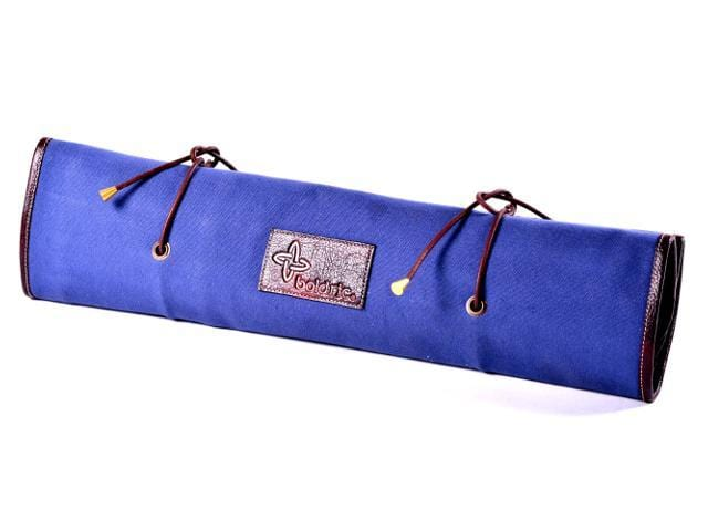 Boldric Tie Canvas Knife Bag, Blue